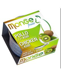 MONGE Fruit Kačių maistas Vištiena su kivi 80 g