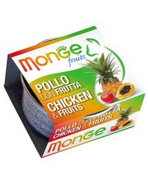 MONGE Fruit kačių maistas Vištiena su vaisiais 80 g