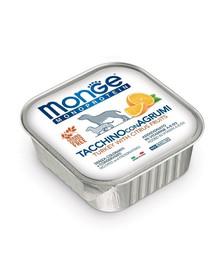 MONGE Fruit Dog Monoprotein Kalakutiena su apelsinu 150 g