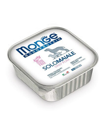 MONGE Monoprotein Solo Dog Šunų maistas Kiauliena 150 g