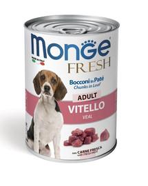 MONGE Fresh Dog Šunų maistas veršiena tešloje 400g