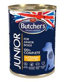 BUTCHERS Junior konservai su vištiena 400 g