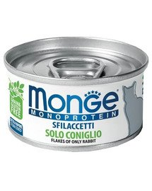 MONGE Monoprotein Cat Kačių maistas su triušiu 80g