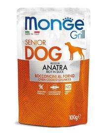 MONGE Grill Dog Buste Šunų maistas Senior antiena 100 g