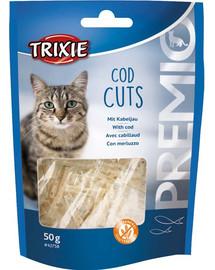 TRIXIE Premio Cod Cuts skanėstai su menkėmis 50 g