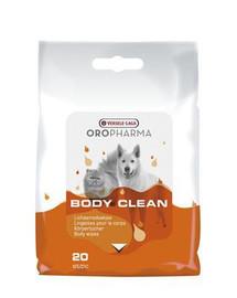 VERSELE-LAGA Oropharma Body Clean Cats & Dogs 20 vnt servetėlės kailui  valyti