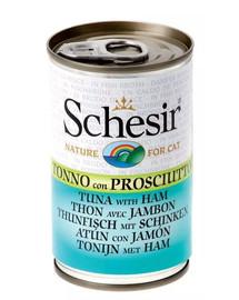 SCHESIR Tunas su kumpiu papildomas maistas katėms 140 g