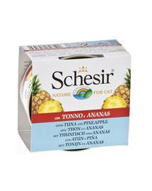 SCHESIR Fruit tunas su ananasais 75 g papildomas maistas katėms