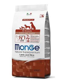 MONGE Puppy Maistas  šuniukams  ėriena su ryžiais 800 g
