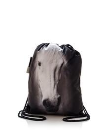FERA Kuprinė - maišas su spauda  Pilkas arklys