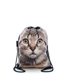 FERA Kuprinė - maišas su spauda  Pilka katė