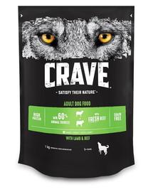 CRAVE Adult lamb & fresh beef 1 kgsausas šunų maistas ėriena ir jautiena