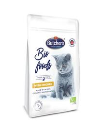 BUTCHER'S BIO foods vištiena sausas maistas suaugusioms katėms 800 g 3 + 1 NEMOKAMAI