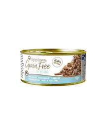 APPLAWS Cat Tin Grain Free 70 g katės drėgno maistas tunas sultinyje