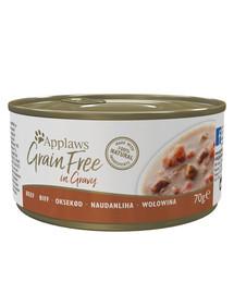 APPLAWS Cat Tin Grain Free 70 g šlapias kačių maistas su kiauliena padaže