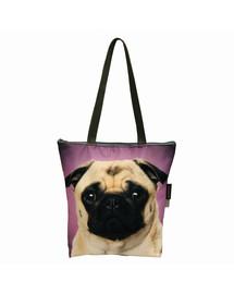 FERA Klasikinis  pirkinių krepšys - mopsas