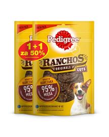 PEDIGREE Ranchos Originals Cuts 65g x 3 - šunų skanėstai su vištiena 1 + 50% NEMOKAMAI