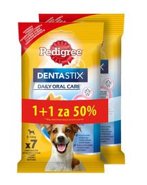 PEDIGREE DentaStix (mažų veislių) skanėstas  šunų danrims 7 vnt. - 180 gx5 1 + 50% NEMOKAMAI