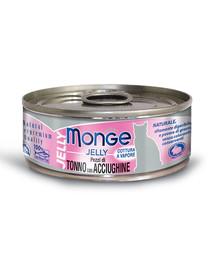 MONGE Jelly kačių maistas Tunas su ančiuviais 80 g