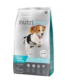 NUTRILOVE Premium dla psa Junior S&M su šviežia vištiena 1,6 kg