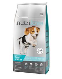 NUTRILOVE Premium dla psa Junior S&M su šviežia vištiena8kg