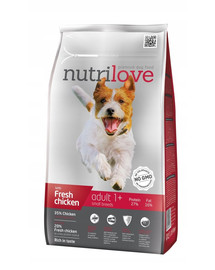 NUTRILOVE Premium Adult S šuniui su šviežia vištiena 1,6 kg