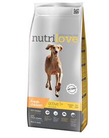 NUTRILOVE Premium Activešuniui su šviežia vištiena 3 kg