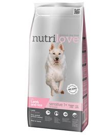 NUTRILOVE Premium Sensitive šuniui su aviena ir ryžiais 3kg