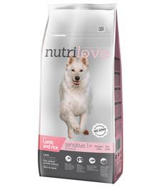 NUTRILOVE Premium Sensitive šuniui su aviena ir ryžiais 12kg