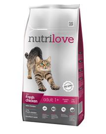 NUTRILOVE Premium dla kota Adult su šviežia vištiena 8kg