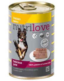 NUTRILOVE Premium Vištienos šunų paštetas 400g