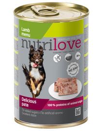 NUTRILOVE Premium Avinėlio šunų paštetas 400g
