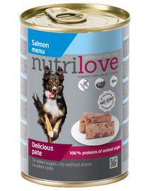 NUTRILOVE Premium Šuns lašišos paštetas 400g