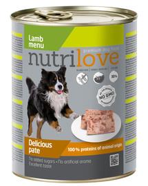 NUTRILOVE Premium Avinėlių šunų paštetas 800g
