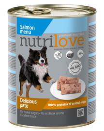 NUTRILOVE Premium Šunų lašišos paštetas 800g
