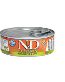 FARMINA N&D Cat Pumpkin Boar, pumpkin, apple 80 g karma mokra dla kotów