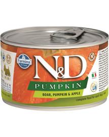 FARMINA N&D Pumpkin Boar & Apple konservai su šerniena ir obuoliais 140 g