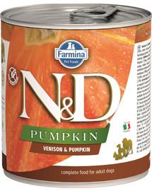 FARMINA N&D Pumpkin konservai su elniena ir moliūgais 285 g