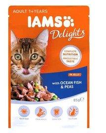 IAMS Cat Adult All Breeds Ocean Fish & Green Beans In Gravy 85 g x 7