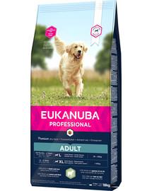 EUKANUBA PROFESSIONAL sausas maistas suaugusių didelių veislių šunims, turtingas 18 kg avienos ir ryžių