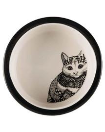 TRIXIE Zentangle kačių rinkinys 2 dubenėliai ir padėkliukas