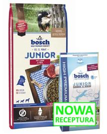 BOSCH Junior ėriena su ryžiais 15 kg + treniruočių skanėstai su trušiena 300 g