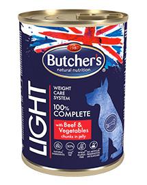 BUTCHER'S Blue+ Light jautienos / daržovių gabaliukai padaže 400 g 5 + 1 NEMOKAMAI