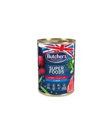 BUTCHER'S Superfoods Dog Tripe su jautienos gabalėliais drebčiuose 400 g 3 + 1 NEMOKAMAI