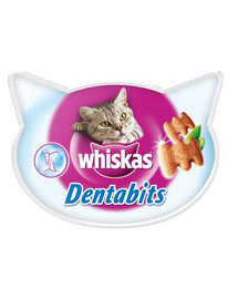 WHISKAS DentaBits vištiena 40 g 3 + 1 NEMOKAMAI