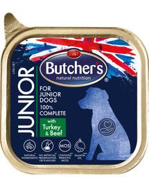 BUTCHER'S Gastronomia Junior kalakutienos / jautienos paštetas 150 g 4 + 1 NEMOKAMAI