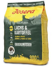 JOSERA Lachs & Kartoffel Adult lašiša ir bulvės 5 x 900 g maistas be grūdų (4 + 1 NEMOKAMAI)