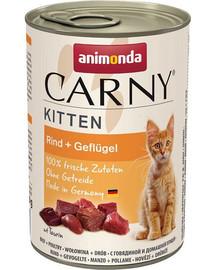 ANIMONDA Carny Kitten rinkinys Jautiena ir paukštiena12 x 400 g