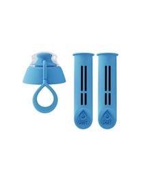 DAFI 2 filtrai filtravimo buteliui su užsukimų - mėlyni