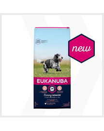 EUKANUBA Caring Senior Medium Breed turtinga šviežia vištiena 30 kg (2 x 15kg)